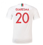 2018/2019 Trikot Portugal Fussball 2018-2019 Away (Quaresma 20) für Kinder