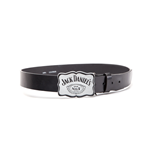 Gürtel Jack Daniel's - Curved Plate with Black Leather Belt