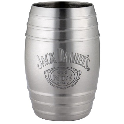 Glas Jack Daniel's Bottle Logo Barrel Steinless Steel Shot Glass
