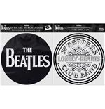 The Beatles Plattenspieler-Pad - Design: Drop T Logo & Sgt Pepper Drum