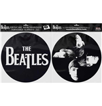 The Beatles Plattenspieler-Pad - Design: Drop T Logo & Faces