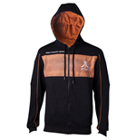 ATARI Herren 2600 Logo Full Length Zipper Hoodie, groß, schwarz / orange