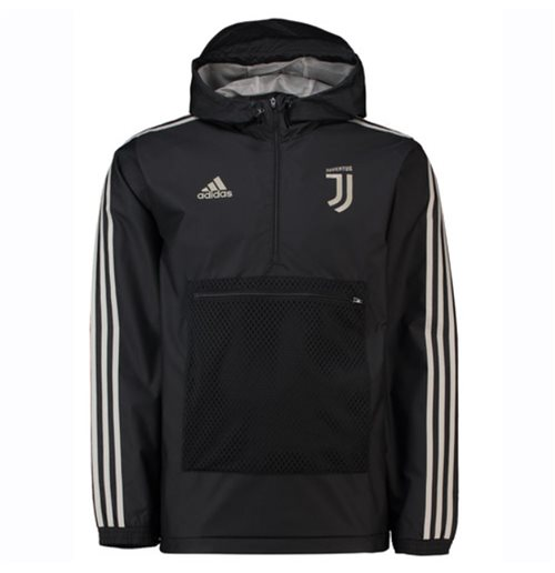 huge inventory casual shoes high quality Jacke Juventus 2018-2019 Adidas 3S Windbreaker (Schwarz)