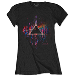 Pink Floyd T-Shirt für Frauen - Design: Dark Side of the Moon Pink Splatter