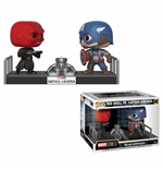 Marvel POP! Movie Moments Vinyl Wackelkopf Figuren 2er-Pack Captain America & Red Skull 9 cm