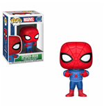 Marvel Comics POP! Marvel Holiday Vinyl Wackelkopf-Figur Spider-Man (Ugly Sweater) 9 cm