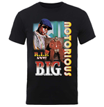 Biggie Smalls  T-Shirt für Männer - Design: RIP Collage