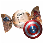 Party-Zubehör Captain America  323544
