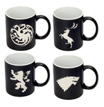 Game of Thrones Tassen 4er-Pack Logos Collector's Edition