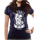 Looney Tunes T-Shirt für Frauen - Design: Football Or Me