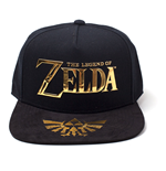Kappe The Legend of Zelda. NINTENDO Legend of Zelda Gold Logo & Royal Crest Baseballmütze, Unisex, Schwarz