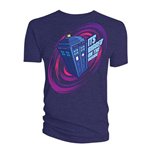 Doctor Who  T-Shirt für Männer - Design: Comic Tardis Bigger on the Inside