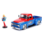 DC Bombshells Diecast Modell Hollywood Rides 1/24 1956 Ford F100 mit Super Girl Figur