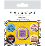 Friends Ansteck-Buttons 5er-Pack Quotes
