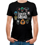 Suicide Squad T-Shirt - Design: Logo And Icons