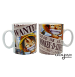 Tasse One Piece - 460 Ml - Luffy Wanted -  Porcl. With Box