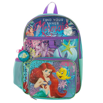The Little Mermaid Rucksack 5 Teile Set