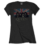 Queen T-Shirt für Frauen - Design: Union Jack Vintage