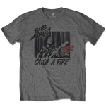 Bob Marley T-Shirt unisex - Design: Catch A Fire World Tour