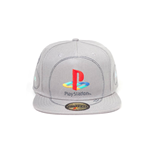 Sony PlayStation Snap Back Hip Hop Cap Silver Logo