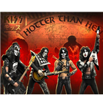 Rock Iconz Kiss Hotter Than Hell Set (4) Statue