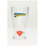 Superman Spinning Logo Soda Glass Brille