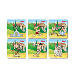 Asterix Olympic Games 6 Coasters Set Untersetzer