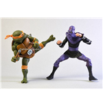 Teenage Mutant Ninja Turtles Actionfiguren Doppelpack Michelangelo vs Foot Soldier 18 cm