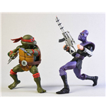 Teenage Mutant Ninja Turtles Actionfiguren Doppelpack Raphael vs Foot Soldier 18 cm
