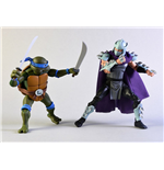 Teenage Mutant Ninja Turtles Actionfiguren Doppelpack Leonardo vs Shredder 18 cm