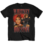 Whitney Houston  T-Shirt unisex - Design: 90s Homage