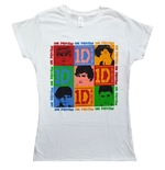 T-Shirt One Direction  Ladies Tee: 9 Squares (Skinny Fit)