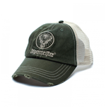 Jagermeister Kappe Verstellbarer Trucker-Hut mit Distressed Patch-Logo