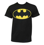 BATMAN Classic Yellow Bat Logo T-Shirt