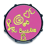 The Beatles Brosche - Design: Drum Love