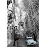 Poster Paris Red Girl Blue Car