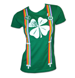 T-Shirt Shamrock Rainbow Suspenders Irish