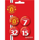 Set Broschen Manchester United FC Players 1