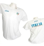 T-Shirt Italien Volleyball Fun in weiss