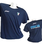 T-Shirt Italien Volleyball Fun in blau