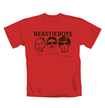 T-Shirt Beastie Boys Red Faces. Offizielles Emi Music Produkt