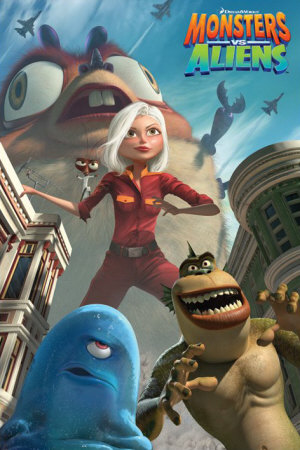 Poster Monsters vs Aliens