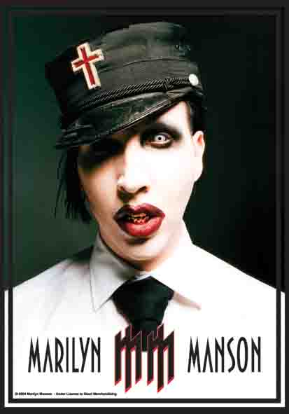 Flagge Marilyn Manson - Mm Logo