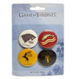 Game Of Thrones-Pack de 4 Pins Version 2