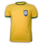 T-Shirt Brasilien Fussball WM 1970 Retro